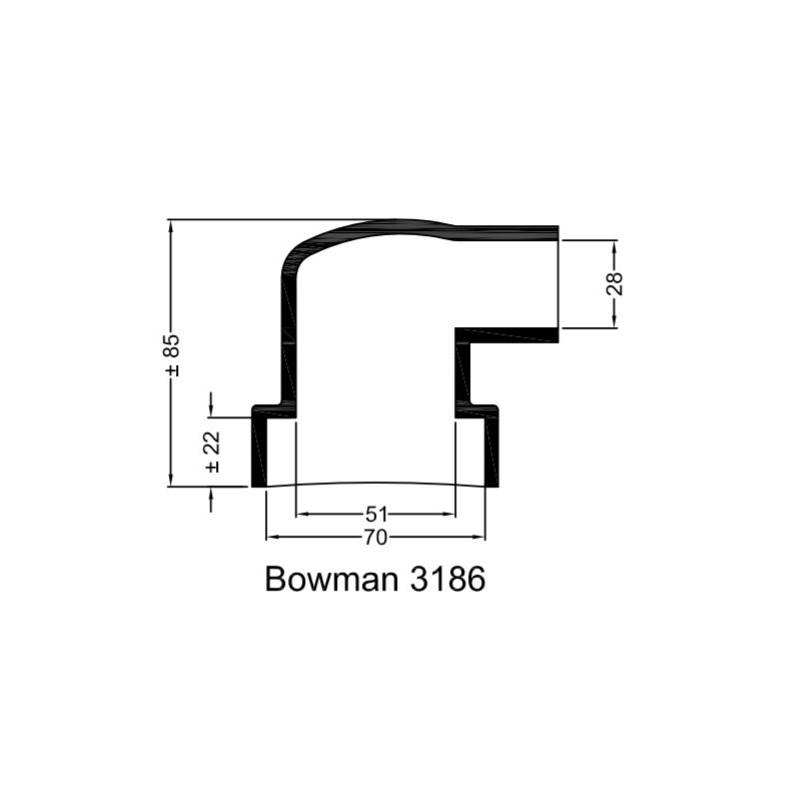 Rubberen mof Bowman 3186
