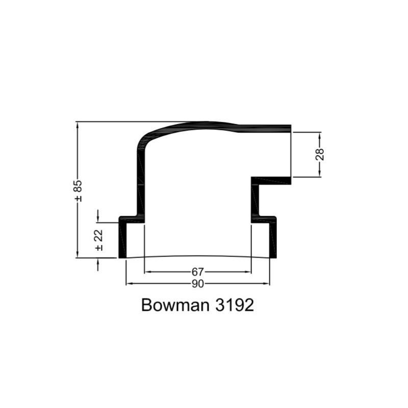 Rubberen mof Bowman 3192