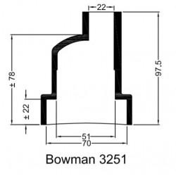 Rubberen mof Bowman 3251