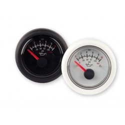 Oil pressure gauge, 12V, 0-8bar, black