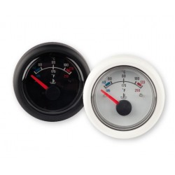 Temperature gauge, 12V, 40-120deg, black